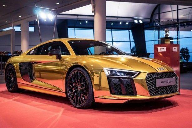 Audi R8 V10 Plus De L Or Pour Ses 610 Chevaux Audi R8 V10 Plus Audi R8 V10 R8 V10 Plus