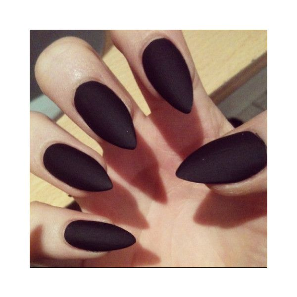 Pointed nails ❤ liked on Polyvore featuring beauty products, nail care and nail treatments