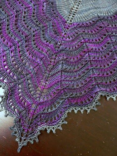 pompomrouge's2 Holden shawlette beautiful colors!