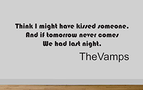 Juko The Vamps Last Night Wall Sticker Decal Kissed Someone