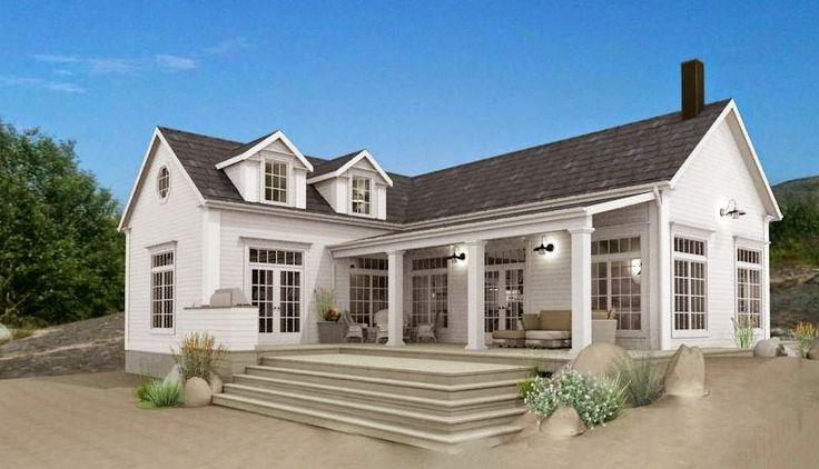 Nu är bygglovshandlingarna klara för fritidshuset i New England stil som kommer att byggas på västkusten. Fritidshuset har en byggyta p...