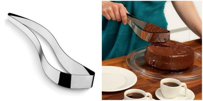 30изобретений, жизнь скоторыми сталабы проще Нож-держатель для торта