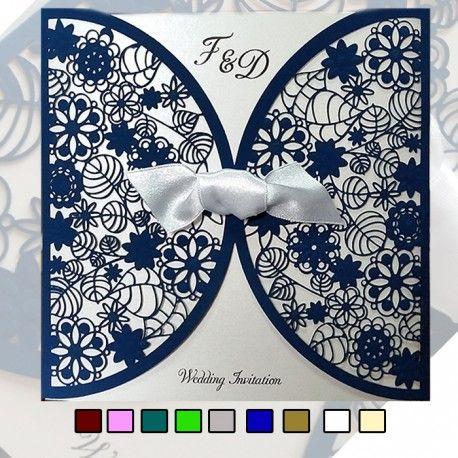 Zaproszenia Ślubne wykonane z papieru w kolorze białym F1198N