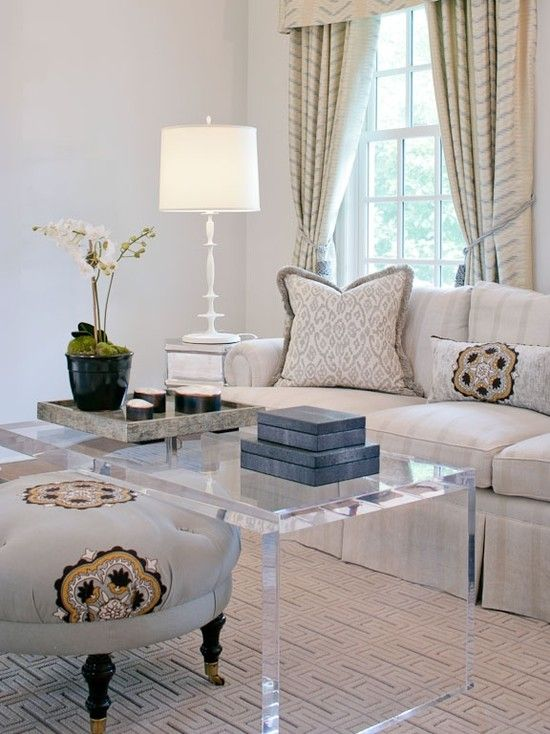 Traditional Acrylic Coffee Table Design, Pictures, Remodel, Decor and Ideas