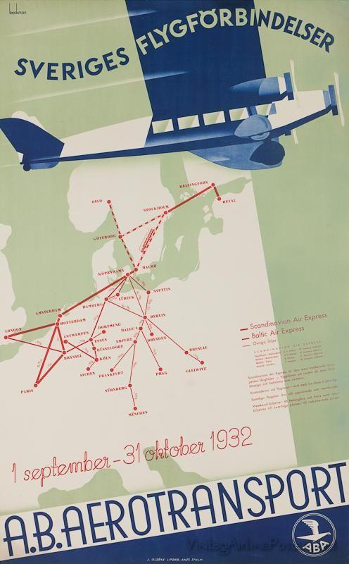 vintage airline poster.