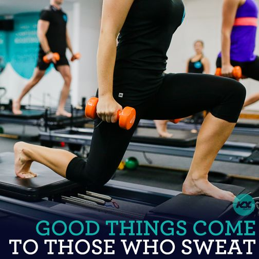 Good things come to those who sweat!   #kxpilates #kxgroup #fitspo #motivation #workout #weights #pilates #fitness