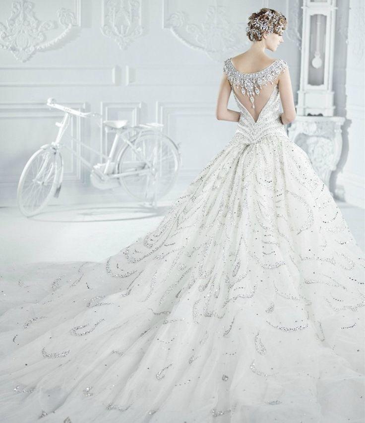 Whole Handmade Sparking Bead Crystal Wedding Dress by Bigday1958, $1,999.00