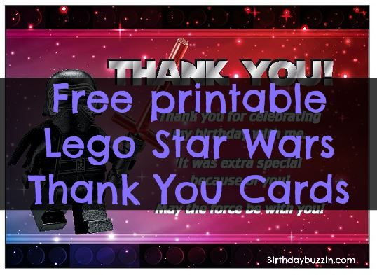 photograph regarding Star Wars Thank You Cards Printable Free titled Totally free Printable Lego Star Wars Thank Yourself Playing cards Lego Star
