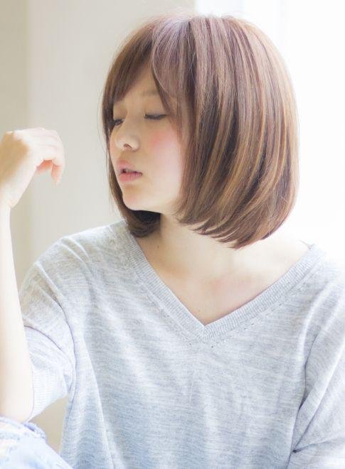 大人可愛い抜け感のあるナチュラルボブ 【Ramie】 http://beautynavi.woman.excite.co.jp/salon/27006?pint