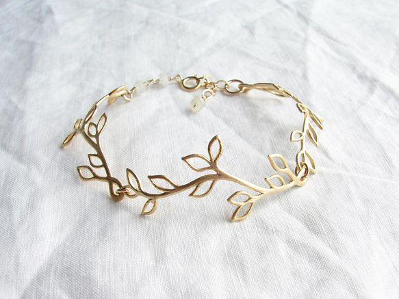 Luna ~ 月桂樹の冠のブレスレット ~ ゴールド