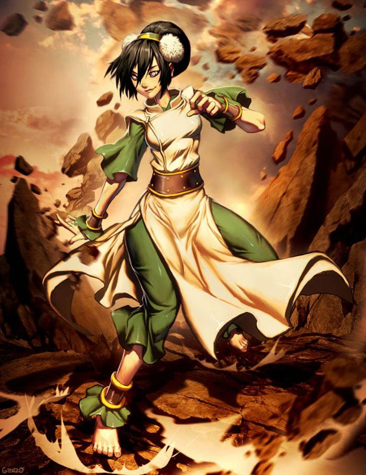 Avatar - Toph Bei Fong Drawing Illustration by Gonzalo Ordonez Arias