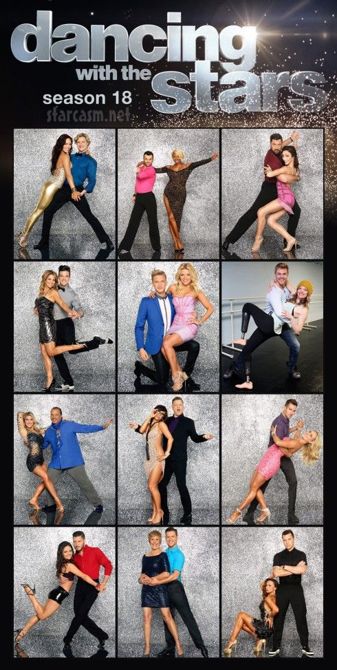 Dancing With The Stars Season 18 official cast photos
