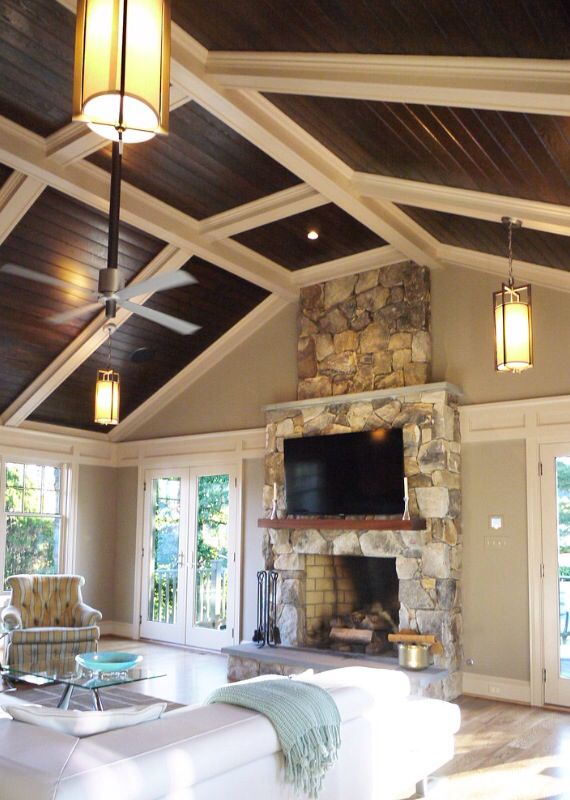 Beauty Family Room overlooking the kitchen of a house transformation with Craftsman influences. Photo curtesy & 50 best Updating the side-split images on Pinterest | Side split ... azcodes.com