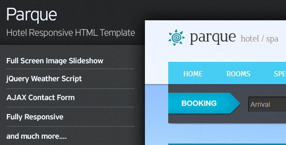 Parque - Hotel Responsive HTML Template