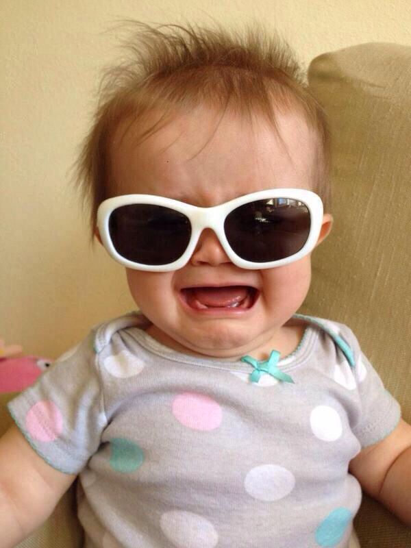 baby crying sunglasses | reactions