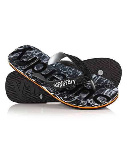 #superdry Superdry men's Marble Flip Flops. These beach flip flops feature a raised Superdry logo on the upper strap and a Superdry logo on the sole. The flip flops are finished with a Superdry logo on the underside of the sole. 4226853500023WPG001 Black Condition   new