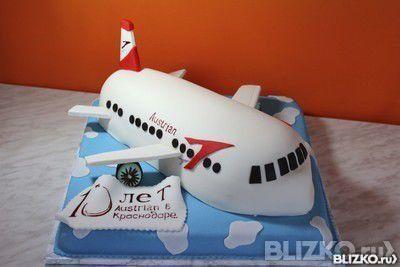 Торт самолет детский