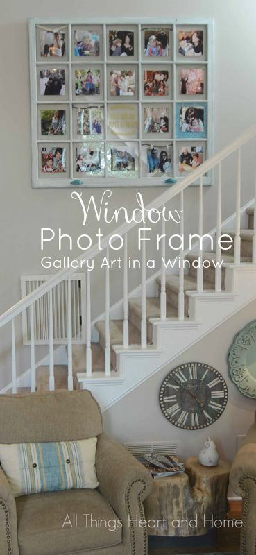 DIY Window Photo Frame - All Things Heart and Home