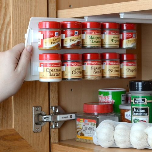 Found it at Wayfair - 20 Clip Cabinet Spice Organizer