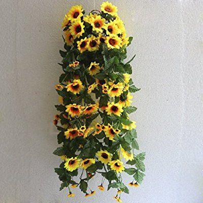 2束 ひまわり造花 ホーム/結婚式/オフィス飾り インテリア 花 雑貨 おしゃれ かわいい