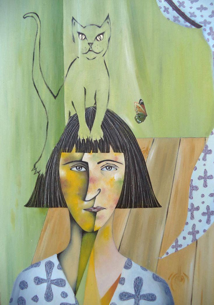 Λεπτομέρεια του έργου ''Οι 3 αδελφές'' / Κέλλυ Μέντζου Detail of artwork ''The three sisters'' / Kelly Mentzou (http://www.dlfineartsgallery.com/asset-viewer/κέλλυ-μέντζου-οι-3-αδελφές-2006-λάδια-φύλλο-χρυσού-24-cts-μολυβοκάρβουνο-τέμπερες-χαρτί-130-x-100-εκ/KwEnPyWxH8L2ZQ?exhibitId=QQKyYTcAO_qpIg)