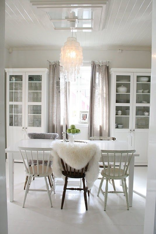 dining room cabinets around window | Love the cabinets on either side of the window that sort of look like ...