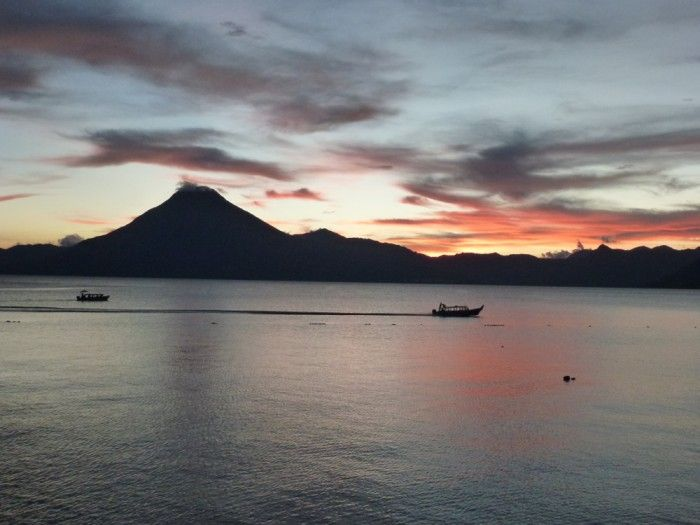 A beautiful sunset on Lake Atitlan, Panajachel #Guatemala