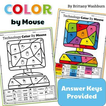 Technology Color By Mouse Icons Printable Worksheets
