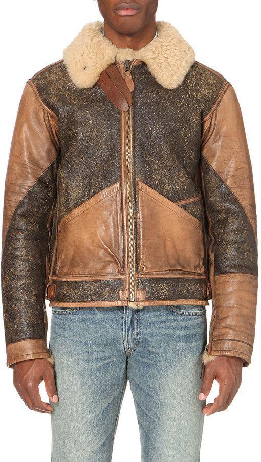 ralph lauren shearling bomber jacket for men shearling. Black Bedroom Furniture Sets. Home Design Ideas