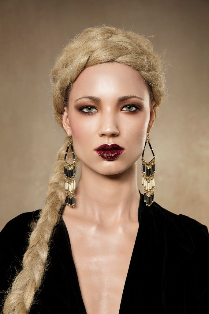 Beautiful makeup with dark red lips. London makeup institute students the future makeup artists