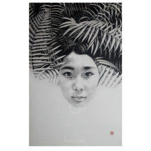 RÊVER DE ROUSSEAU de #Lantomo. #Grafito sobre #papel #encolado a #tabla.73x50 cm,580€  #Graphite #dibujo #drawing #artwork