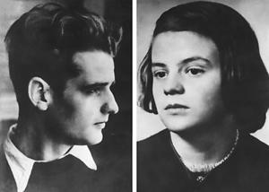 Die Geschwister Hans und Sophie Scholl wurden am 22. Februar 1943 abgeurteilt und hingerichtet