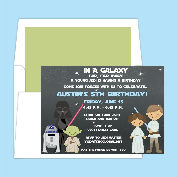Star Wars Birthday Party Invitation. $1.50, via Etsy.