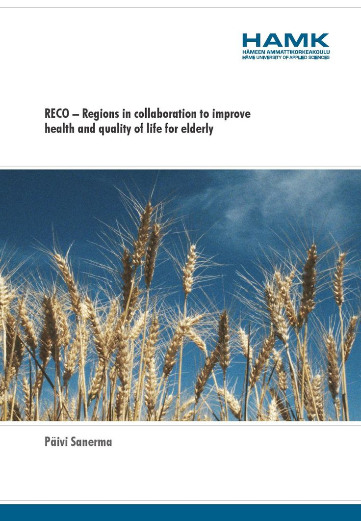 RECO – Regions in collaboration to improve  Writer: Päivi Sanerma. 2015. HAMK Publications.