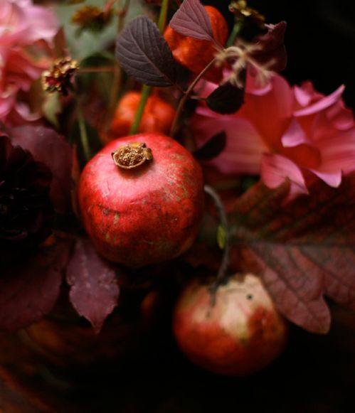 Pomegranates are my favorite fruit. They are beautiful and taste divine!