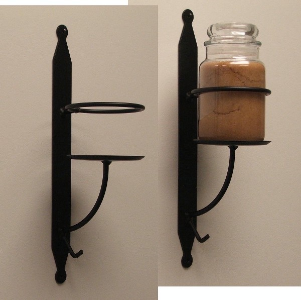 Wrought Iron Candle Holder Wall Sconce Candles & More Pinterest Wrought iron, Wall sconces ...
