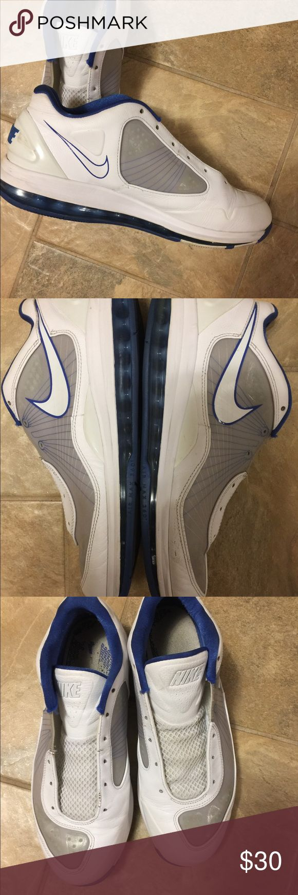 Nike Shoes White & Blue Nike Mid Top Shoes. In good condition. Needs shoe strings. Nike Shoes Sneakers