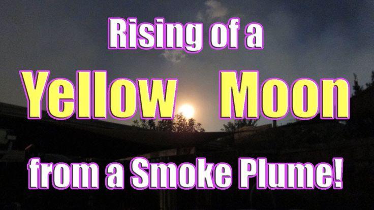 Yellow Moon Rising from Hazelwood Open Cut Fire Smoke (Hazelwood -- Morwell fire Feb 2014)