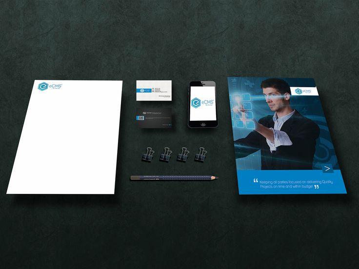 Logo, Business Card, Letterhead Design and Folder Design for NewGene Technologies (eCMS)