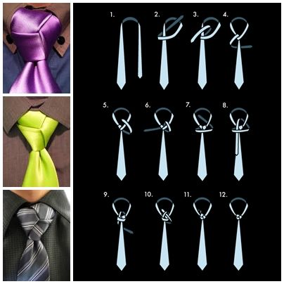 How to tie a tie trinity knot step by step DIY instructions, How to, how to make, step by step, picture tutorials, diy instructions, craft, do it yourself