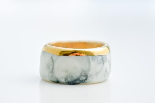 Porcelain Jewelry - Marbled Ring