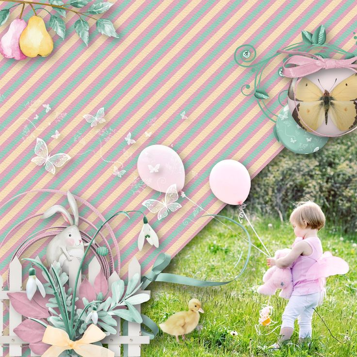 """""""Bunny In Spring"""" by Aurélie Scrap, https://www.digiscrapbooking.ch/shop/index.php?main_page=product_info&cPath=342&products_id=26850, photo Pixabay"""