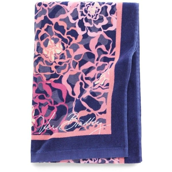 Vera Bradley Beach Towel in Katalina Pink ($35) ❤ liked on Polyvore featuring home, bed & bath, bath, beach towels, accessories, katalina pink, sale, vera bradley, pink beach towel and oversized beach towels