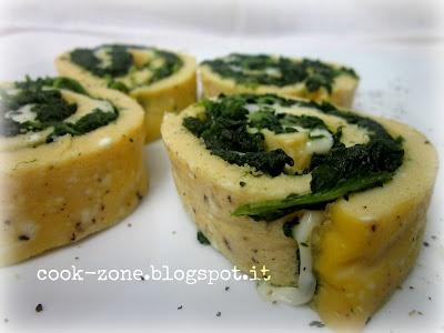 Girelle di frittata spinaci e mozzarella