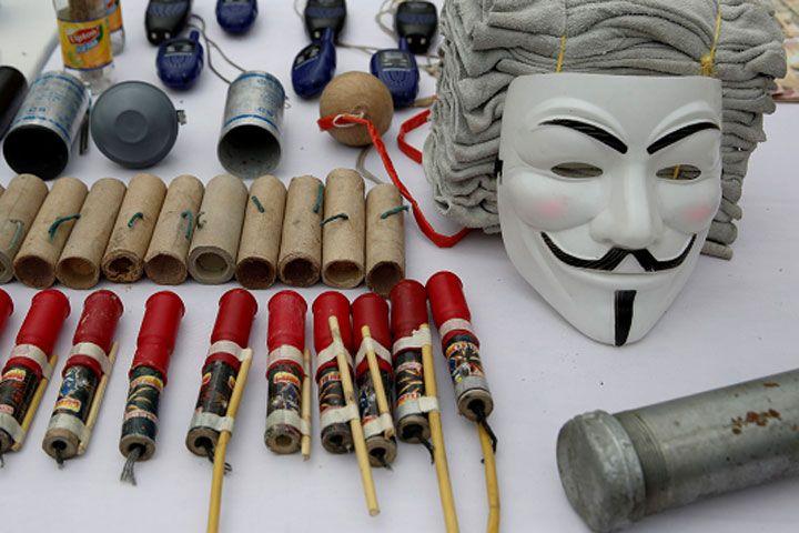 Esto fue lo que hallaron en los campamentos de manifestantes ...