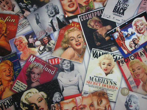 Marilyn Monroe printed heavy weight polyester by colorfulfelts, $13.00