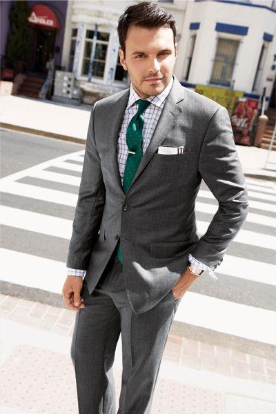black suit dark green tie - photo #26
