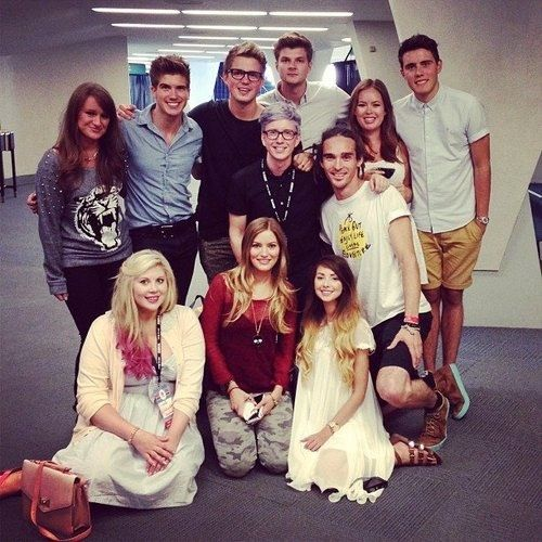 the youtube crew at vidcon omg pinterest youtube youtubers and jim o 39 rourke. Black Bedroom Furniture Sets. Home Design Ideas
