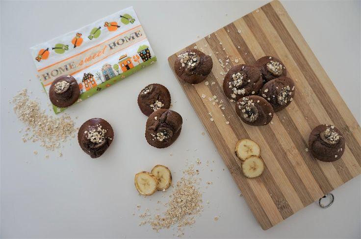 Muffins de Chocolate e Banana - ShapeYourBody by Vanessa Alfaro