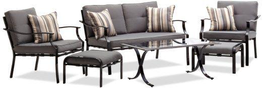 Amazon.com: Strathwood Basics 6-Piece All-Weather Furniture Set: Patio, Lawn & Garden